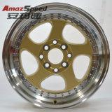 Borda opcional da roda da liga de 15 polegadas com PCD 8X100-114.3