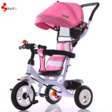 Bicicleta da roda do miúdo três/bebê ajustável Trike da segurança do assento