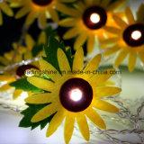10 allumer la lumière féerique de chaîne de caractères de batterie de tournesol pour le décor de jardin