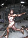 Sporten 2, Binnen, de Decoratie van het Metaal van de Club. Het abstracte Beeldhouwwerk van het Net van het Roestvrij staal