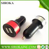 O carregador duplo universal Output DC5V1+2.1A aprovado do carro do USB do Ce de RoHS da venda da fábrica com Ce RoHS aprovou para o iPhone