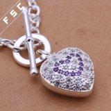 Сердца Zirconia вспомогательного оборудования способа ожерелье кубического романтичного привесное для девушки