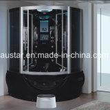 sauna del vapore del nero del settore di 1400mm con la Jacuzzi e Tvdvd (AT-G9050TVDVD)