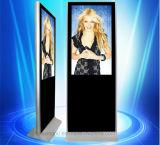 La mejor visualización del LCD del precio 43 pulgadas de soporte del suelo para hacer publicidad del jugador