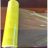 El alimento transparente amarillo del color del PE se aferra película plástica de la película de estiramiento