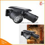 Réglable Dual Head 14LEDs Lampe solaire avec PIR Motion Sensor
