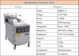 Friteuse mécanique de pression de poulet et de poissons de gaz de panneau de Cnix Mdxz-25