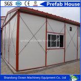 Casa modular pré-fabricada clara do painel de sanduíche do frame de aço para o escritório /Home /Working