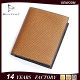 Бумажники портмона карточки неподдельной кожи Handmade людей способа Trifold