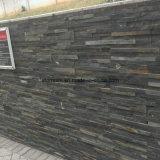 Revêtement mural extérieur noir / gris Placage en pierre culturelle