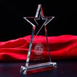 Arte popular del trofeo del vidrio cristalino de la estrella