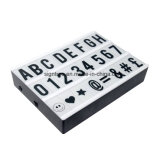 文字が付いているA4サイズ文字のライトボックス/映画のライトボックス
