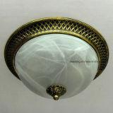 Luz de teto de vidro interna poli decorativa com o suporte da lâmpada E27