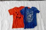 Por atacado à roupa usada da alta qualidade da camisa da luva T das senhoras de Toronto credenciais longas