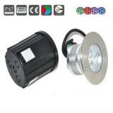 Lumière de pavage souterraine de la qualité 3W RVB DEL