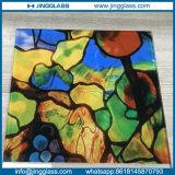 Carreaux plats de verre à vitres de fritte en céramique colorée de Digitals pour la glace de porte de guichet