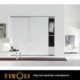棚および引出しTivo-0074hwが付いている単一のワードローブの戸棚