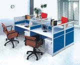 2 portées L partition de bureau de personnel de boîtier de poste de travail de forme (HX-NCD298)