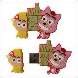 Mecanismo impulsor plástico de la pluma del USB del mecanismo impulsor del flash del USB de la dimensión de una variable del carro