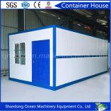 Casa modular prefabricada de acero favorable al medio ambiente hecha del panel de emparedado con precio barato de la buena calidad