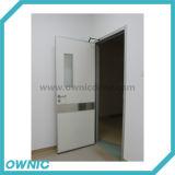 Solo manual de la puerta de oscilación de la hoja abierto para los hospitales