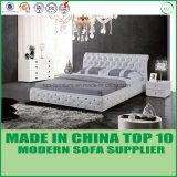Кровать самомоднейшей домашней спальни кожи мебели двойная
