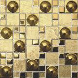 Mattonelle di mosaico di vetro della stanza da bagno/mosaico di cristallo della barra contro (FY4808J)