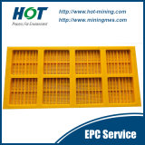 Personalizado resistente al desgaste PU malla de poliuretano vibrante panel de la pantalla