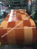 Bobina d'acciaio del mattone/di legno disegno PPGI/PPGL