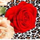 100% Poliéster Leopard Rose Pigment & Disperse Tecido impresso para conjuntos de cama