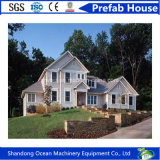 Casa pré-fabricada do estilo moderno o mais novo, casa modular móvel da construção de aço clara