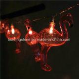 당 생일 결혼식 홈 테이블 장식 3.3 피트를 위한 빨간 홍학 20 LEDs 마이크로 요전같은 빛은 백색을 데운다
