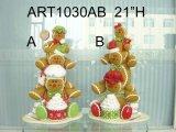 Impilando sul pan di zenzero del gelato & del biscotto, decorazione di Asst-Natale 2