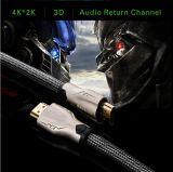 HDMI aan HDMI Kabel van de Adapter van de Kabel HDMI 3D 1.4V 4k
