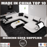 Sofa à la maison de salle de séjour de capitonnage de cuir de meubles