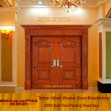 Luxury double Entrance Wooden Door for mansion (GSP1-002)