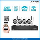 kit sin hilos de la cámara NVR del IP de WiFi del punto negro de 1080P 4CH