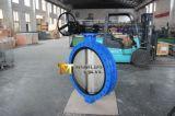 두 배는 벨브 기어 손 바퀴를 가진 U 단면도 나비 플랜지를 붙였다