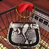 2017 Luxuxfrauen-Handtaschen-Entwerfer-reale lederne Beutel-Metallgriff Schulter-Beutel mit Schlange-Muster Emg5101