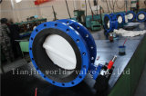 PTFE Platten-Doppeltes flanschte Drosselventil mit Cer ISO genehmigtes Wras (CBF02-TF01)
