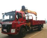 Auman 5 T 기중기를 가진 망원경 똑바른 붐 기중기 7t 트럭