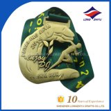 2014 de Medaille van het Metaal van de Marathon van het Park van de Manier van de Douane met het Lint van Nice