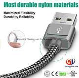 USB schreiben c-Kabel, Kabel-umsponnenes schnelles Aufladeeinheits-Nylonnetzkabel Snowkids USB-a bis USB C für Handy