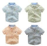Kinderen die de Gecontroleerde Overhemden van de Manier kleden de Zomer