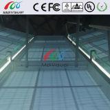 Schermo trasparente di vetro LED per dell'interno ed esterno