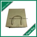 Papel Kraft reciclable bolsa para ropa de embalaje con asas PP