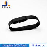 Wristband del silicón del interfaz RFID del USB para el club de noche