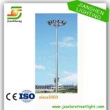 Alta illuminazione palo d'acciaio galvanizzata dell'albero Q235