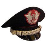 El oficial de autorización militar de la alta calidad enarboló el casquillo