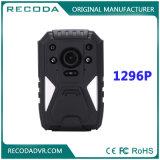Камера полиций ночного видения 1296p несенная телом с GPS